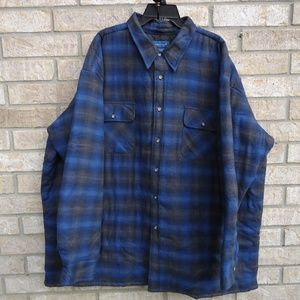3XL jacket shirt,quilted  inside -outside flannel.
